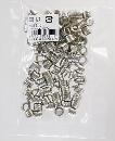 WAKI(和気産業)ニッケルダボ メン凹(100個) 9mmクローム DB-023 5744600