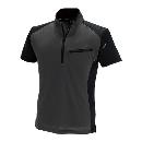 TS DESIGN ワークニットショートシャツ(春夏用) 846355 ブラック×チャコールグレー 3L