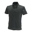 TS DESIGN ワークニットショートシャツ(春夏用) 846355 ブラック×ブラック L