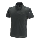 TS DESIGN ワークニットショートシャツ(春夏用) 846355 ブラック×ブラック LL