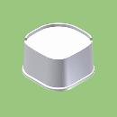 関東器材 洗濯機用かさ上げ台 《かさあげくん》 1セット4個入り LKD-60