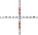 マイゾックス 検測ロッド(クロス標尺)  K110