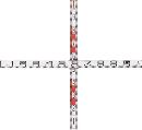 マイゾックス 検測ロッド(クロス標尺)  K60