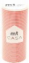 カモ井加工紙 mt CASA  ボーダー・ブライトオレンジ 100mm×10m巻き