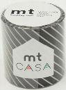 カモ井加工紙 mt CASA  ストライプ・ブラック 50mm×10m巻き