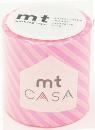カモ井加工紙 mt CASA  ストライプ・ショッキングピンク 50mm×10m巻き