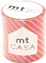 カモ井加工紙 mt CASA  ストライプ・レッド 50mm×10m巻き