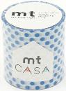 カモ井加工紙 mt CASA  ドット・ブルー 50mm×10m巻き
