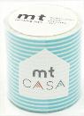 カモ井加工紙 mt CASA  ボーダー・パステルブルー 50mm×10m巻き