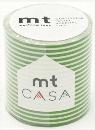 カモ井加工紙 mt CASA  ボーダー・ライトグリーン 50mm×10m巻き