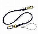 フジ矢 ロック付き布製セーフティコード (ロック付カラビナ型) 5kgタイプ 黒 FSC-5BK-SR