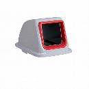 エコ分別カラーペール65 (蓋)オープンもえるゴミ 赤