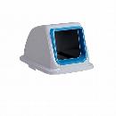 エコ分別カラーペール90 (蓋) オープン もえないゴミ 青