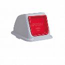 エコ分別カラーペール90 (蓋) プッシュ もえるゴミ 赤