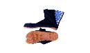 本格藍染たびつま先保護 7枚 28cm