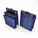 鳶壱 頑丈な腰袋 仕切付内ポケット NO.112−NB 濃紺