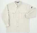 ホシ服装 P143 1 5L 長袖シャツ アイボリー