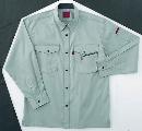 ホシ服装 #463 3 5L 長袖シャツ アース
