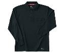 ホシ服装 225 長袖ポロシャツ 4ブラック 3L