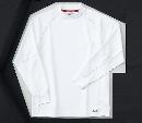 ホシ服装 226 長袖ローネック 1ホワイト L