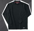ホシ服装 226 長袖ローネック 4ブラック LL