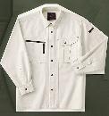 ホシ服装 653 長袖シャツ 1アイボリー 3L