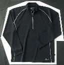 ホシ服装 229 長袖ZIPシャツ 40 ブラック L