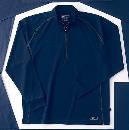 ホシ服装 229 長袖ZIPシャツ 60 ネイビー L