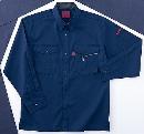 ホシ服装 #463 6 4L 長袖シャツ ネイビー