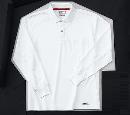 ホシ服装 225 長袖ポロシャツ 1ホワイト L