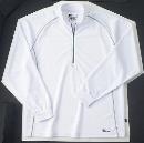 ホシ服装 229 長袖ZIPシャツ 10 ホワイト 4L