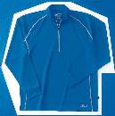 ホシ服装 229 長袖ZIPシャツ 50 ブルー LL