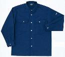ホシ服装 P143 9 5L 長袖シャツ Dネイビー
