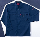 ホシ服装 #463 6 5L 長袖シャツ ネイビー