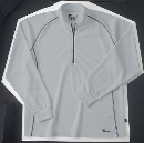 ホシ服装 229 長袖ZIPシャツ 20 シルバー M