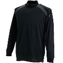 3085 スマートネックシャツ ブラック 4L