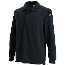 3075 長袖ポロシャツ ブラック 3L