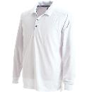 3075 長袖ポロシャツ ホワイト 4L