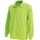 3075 長袖ポロシャツ Lグリーン 4L