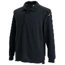 3075 長袖ポロシャツ ブラック 4L