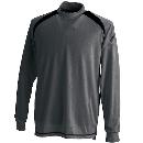 3085 スマートネックシャツ チャコールG 4L