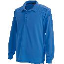 3075 長袖ポロシャツ Rブルー L