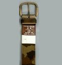 #72 【L】 ブラウン 迷彩1P40mm巾ベルト