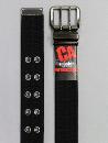 #69 【L】 黒 綿コアエッジ2P40mm巾ベルト