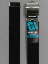 #30 【M】 黒 ナイロンローラー 32mm巾ベルト W95cm