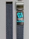 #30 【M】 グレー ナイロンローラー 32mm巾ベルト W95cm