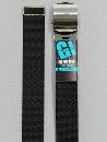 #31 【L】 黒 ナイロンローラー 32mm巾ベルト W110cm