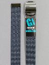 #31 【L】 グレー ナイロンローラー 32mm巾ベルト W110cm