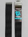 #33 【L】 黒 ナイロンローラー 40mm巾ベルト W110cm