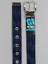 #34 【M】 紺 ナイロン 1P32mm巾ベルト W95cm
